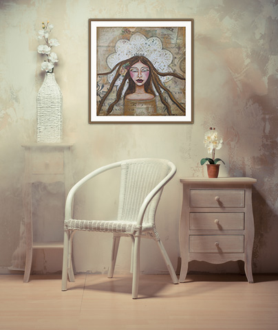 framed artwork on wall and beige furniture, framed prints, decorative wall art
