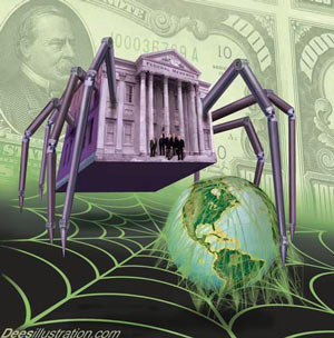 federal reserve spider taking over the world, alternative media