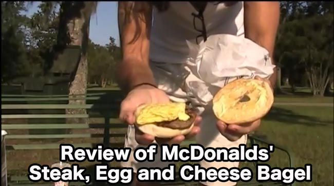 Review of McDonalds' Steak, Egg and Cheese Bagel