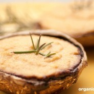 Raw Stuffed Portobello Mushrooms with Rosemary Cashew Cheese