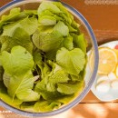 Edible leaves: Linden leaf salad