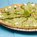 Raw pizza recipe with spinach sauce
