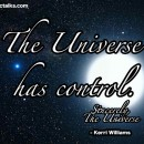 The Universe Has Control