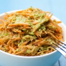 Carrot Noodles with Green Pea Sauce